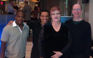 With James Johnson, III, Paul Thompson, and Daniel May