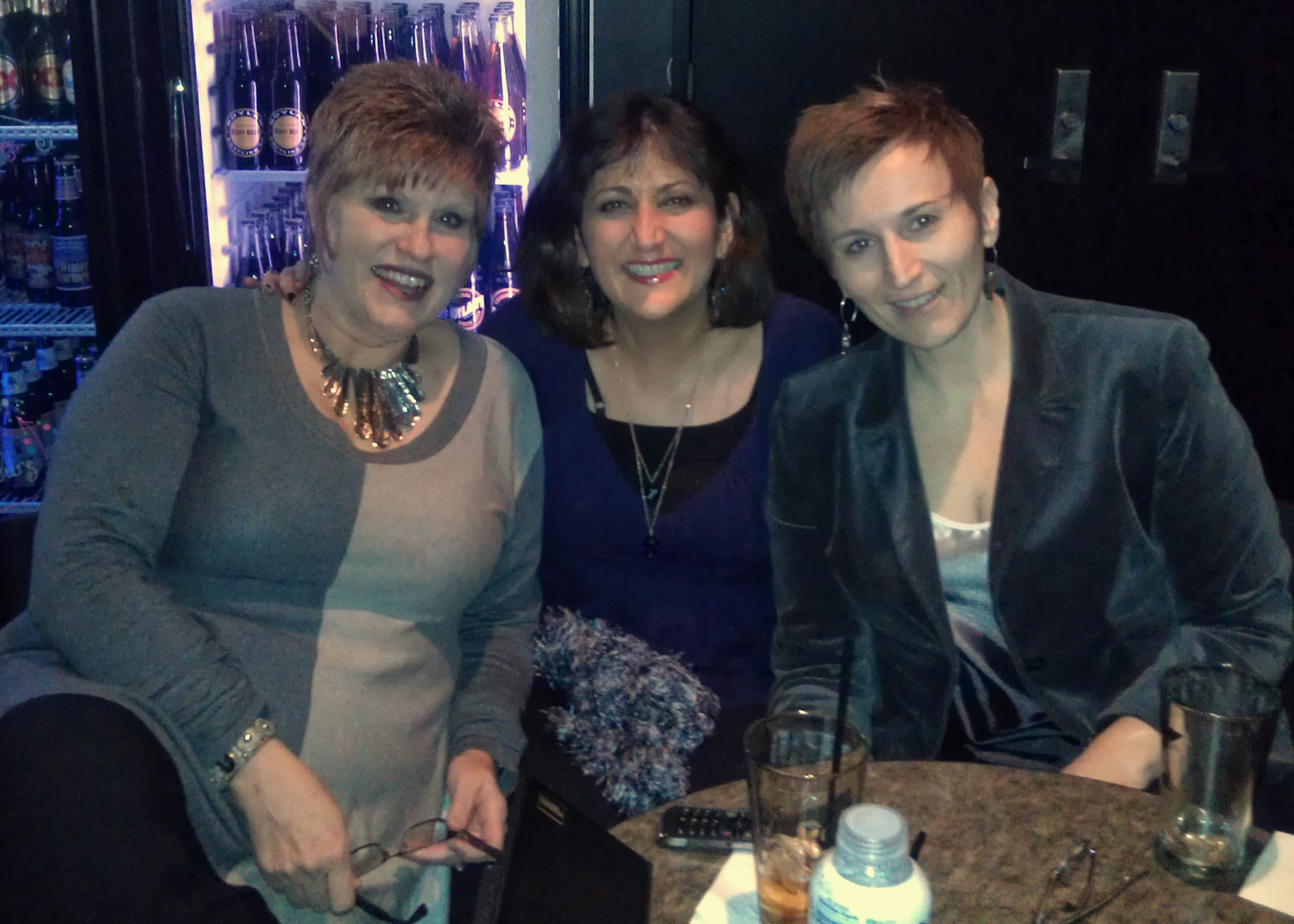 With some favorite friends, Tania Grubbs and Maureen Budway (miss you Mo)