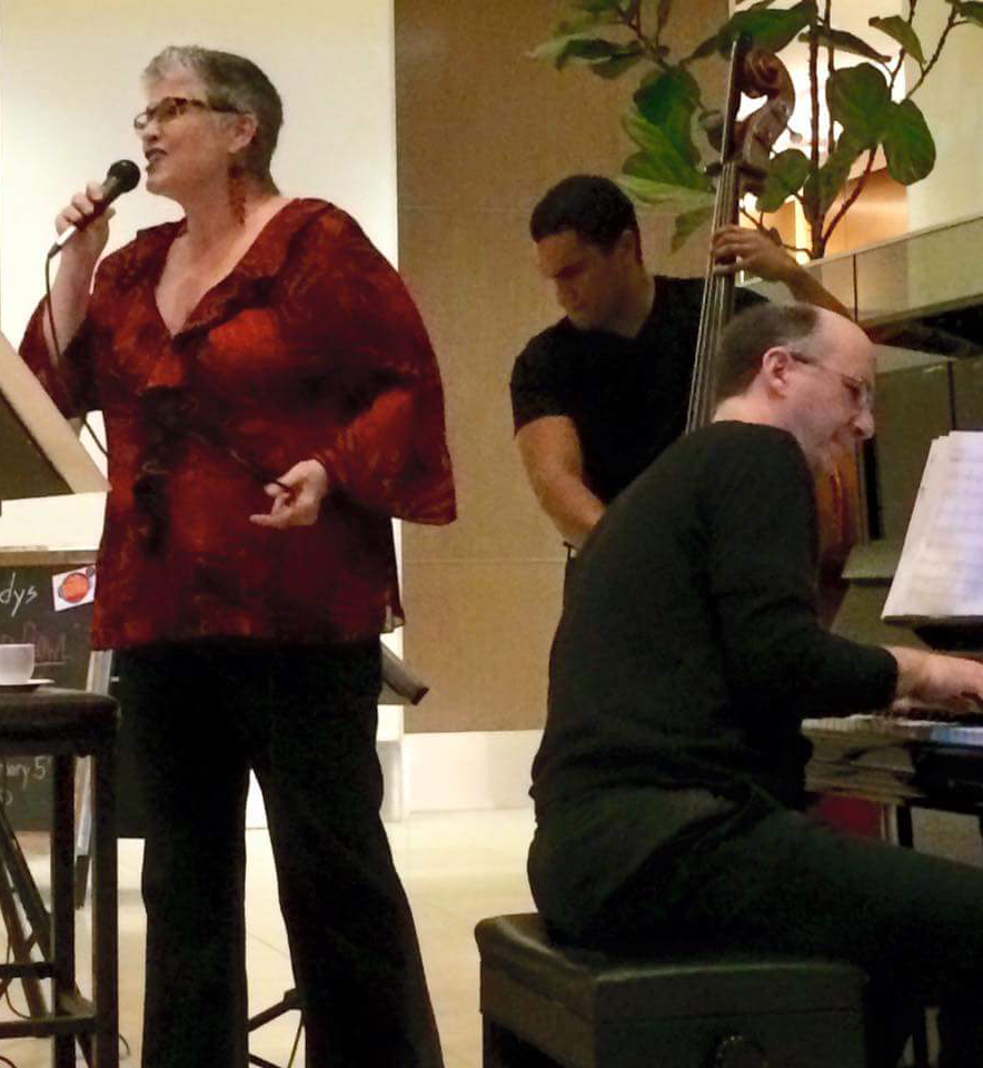 Performing at Andys with Daniel May & Paul Thompson